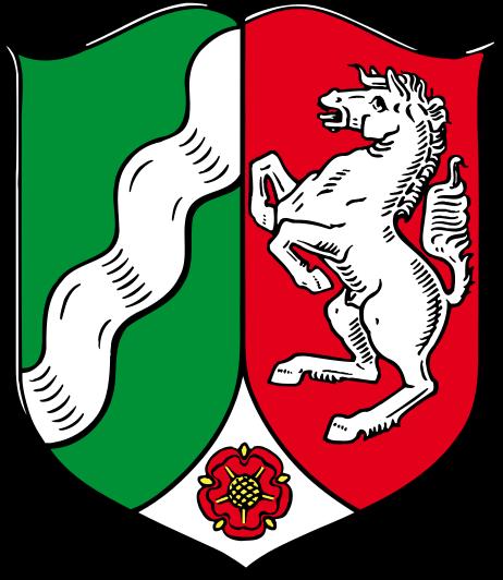 Wappen des Bundeslandes Nordrhein-Westfalen