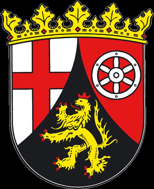 Wappen des Bundeslandes Rheinland-Pfalz