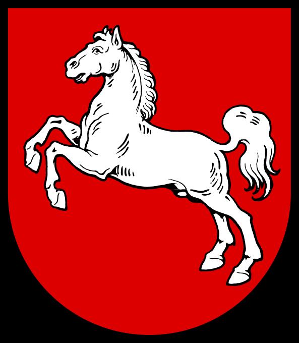 Wappen des Bundeslandes Niedersachsen