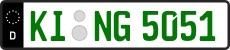 Grünes Kennzeichen