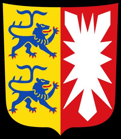 Wappen des Bundeslandes Schleswig-Holstein