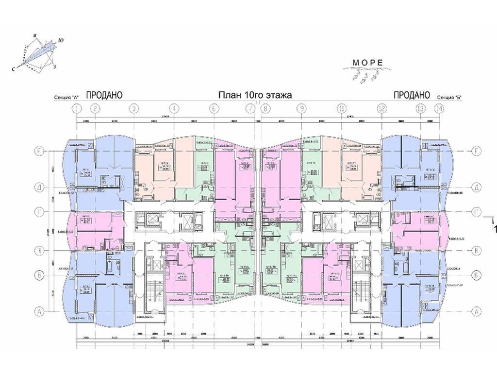 1-комнатная квартира, 53.63 м2, 56500 у.е.