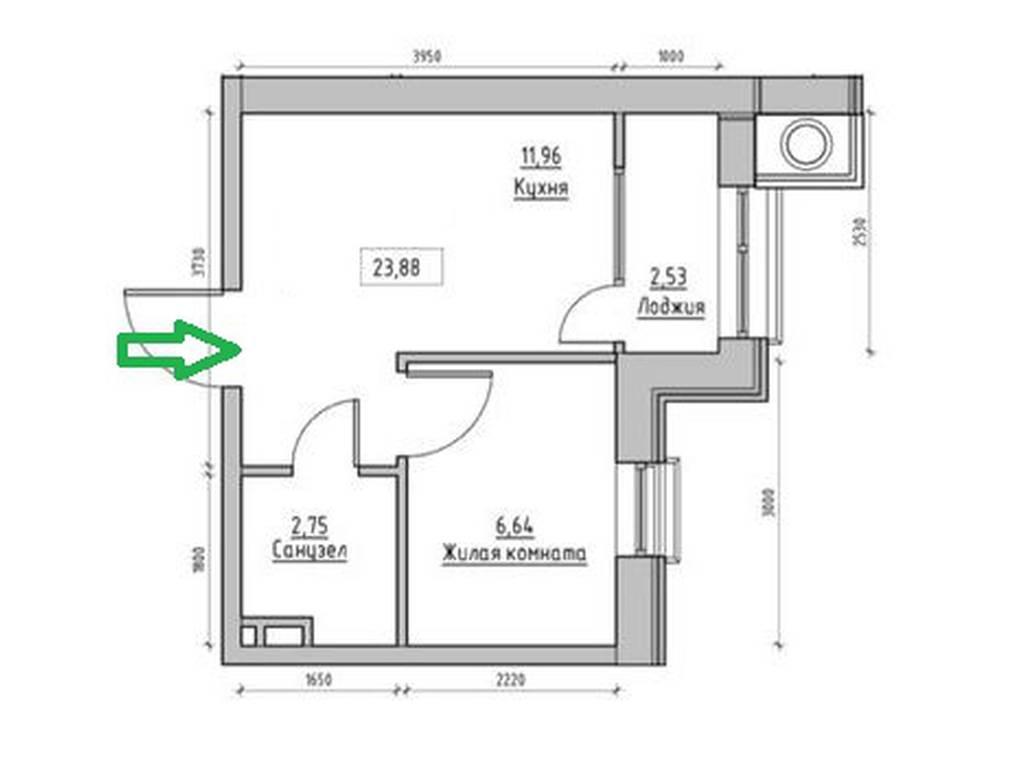 1-комнатная квартира, 24.00 м2, 22137 у.е.