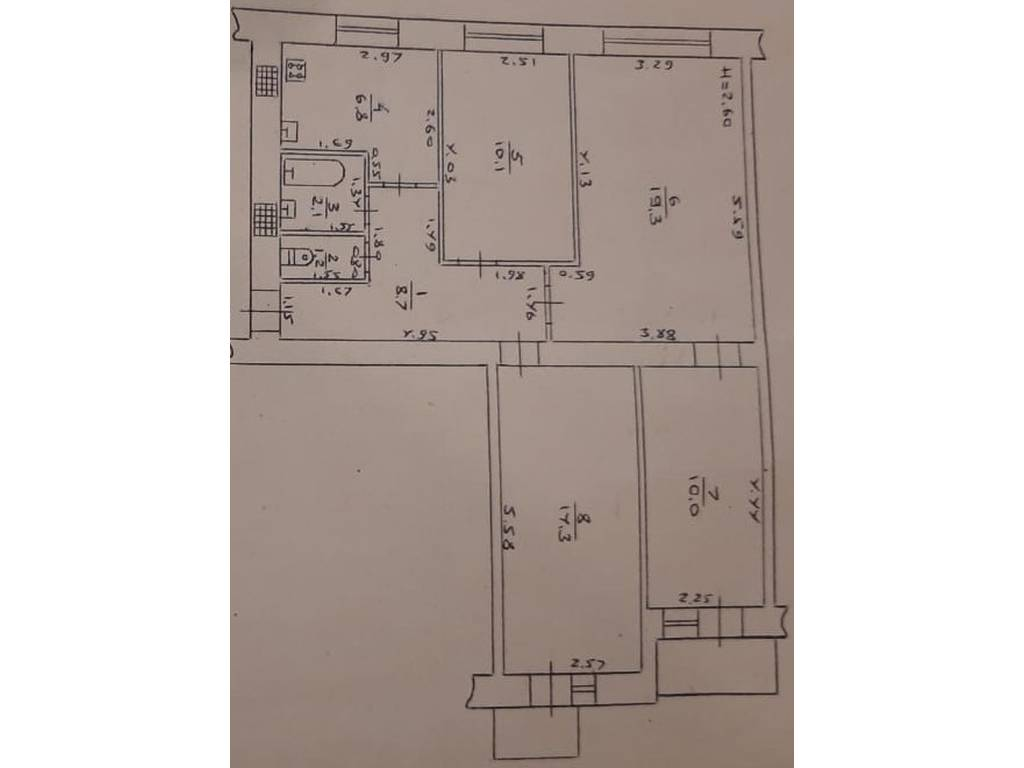 4-комнатная квартира, 74.20 м2, 50000 у.е.