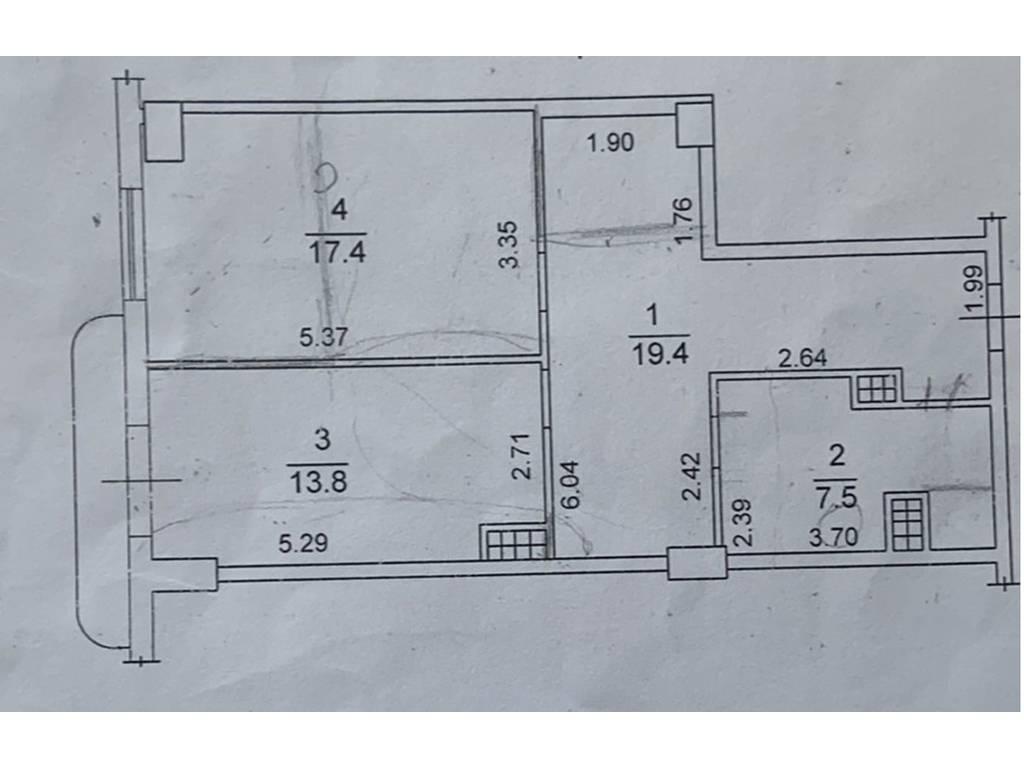 1-комнатная квартира, 58.00 м2, 100000 у.е.