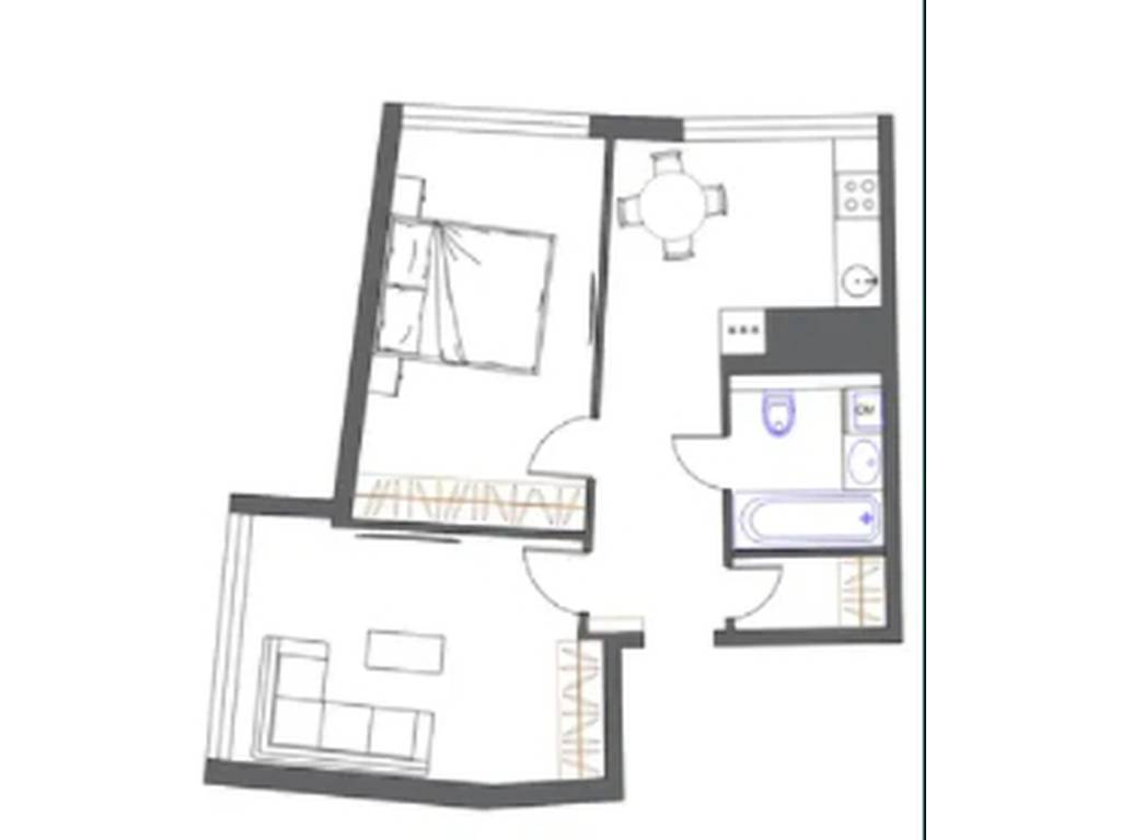 2-комнатная квартира, 54.00 м2, 69000 у.е.