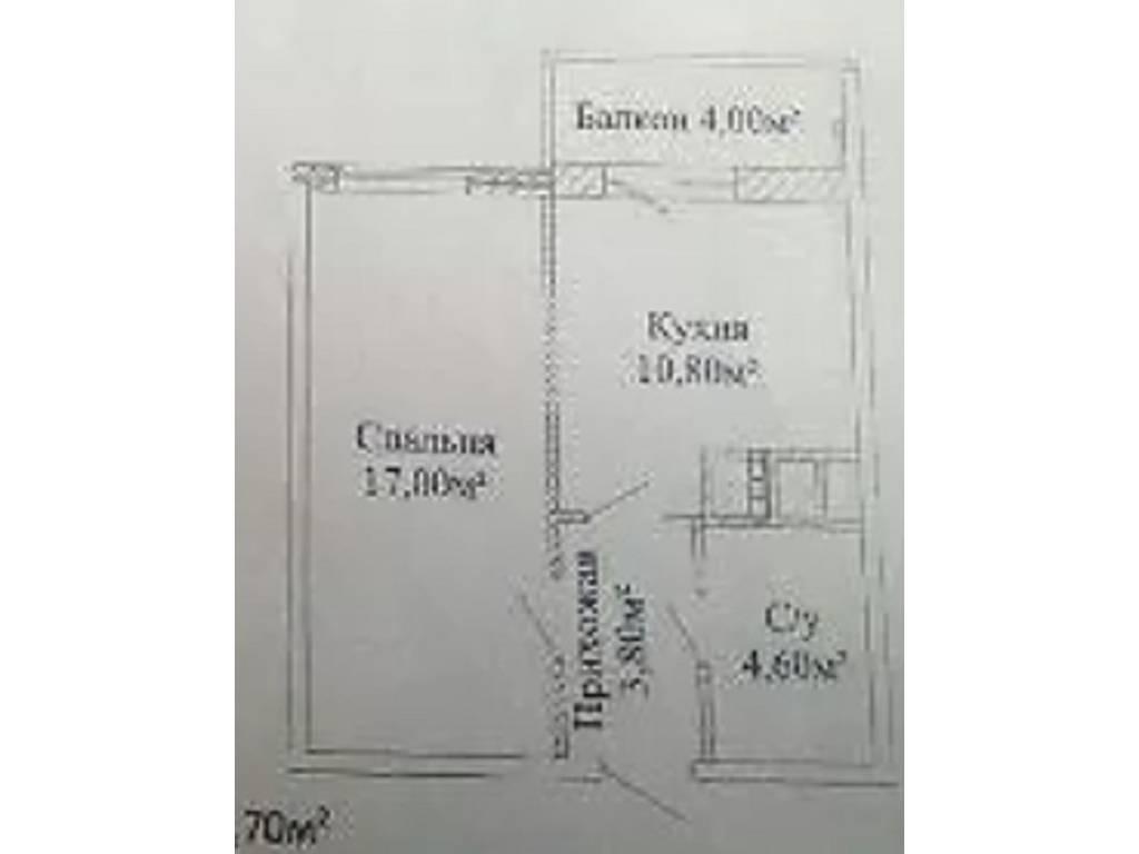1-комнатная квартира, 37.40 м2, 33500 у.е.