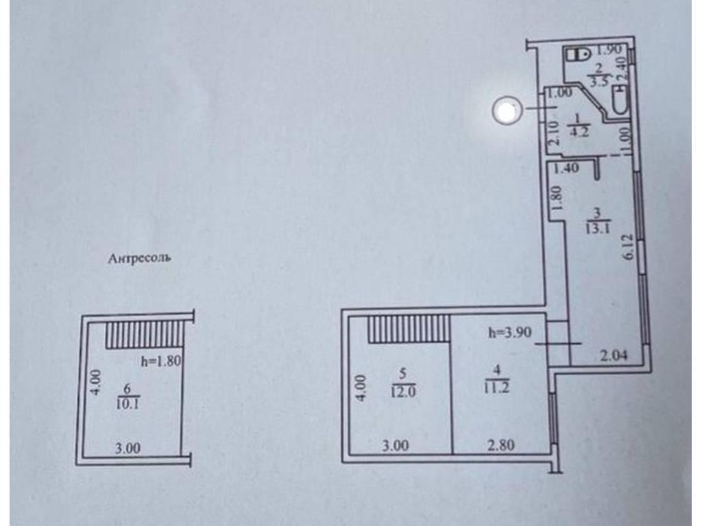 2-комнатная квартира, 53.00 м2, 44000 у.е.