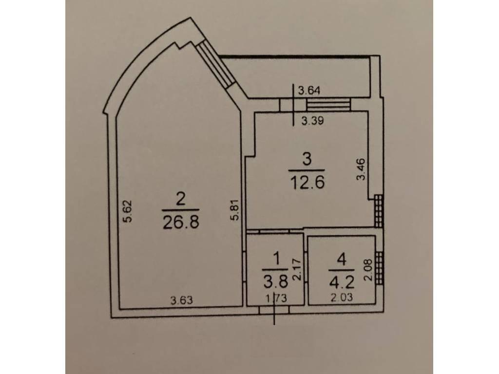 1-комнатная квартира, 48.80 м2, 55000 у.е.