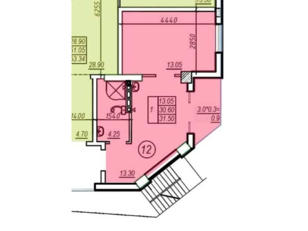 1-комнатная квартира, 32.00 м2, 48700 у.е.