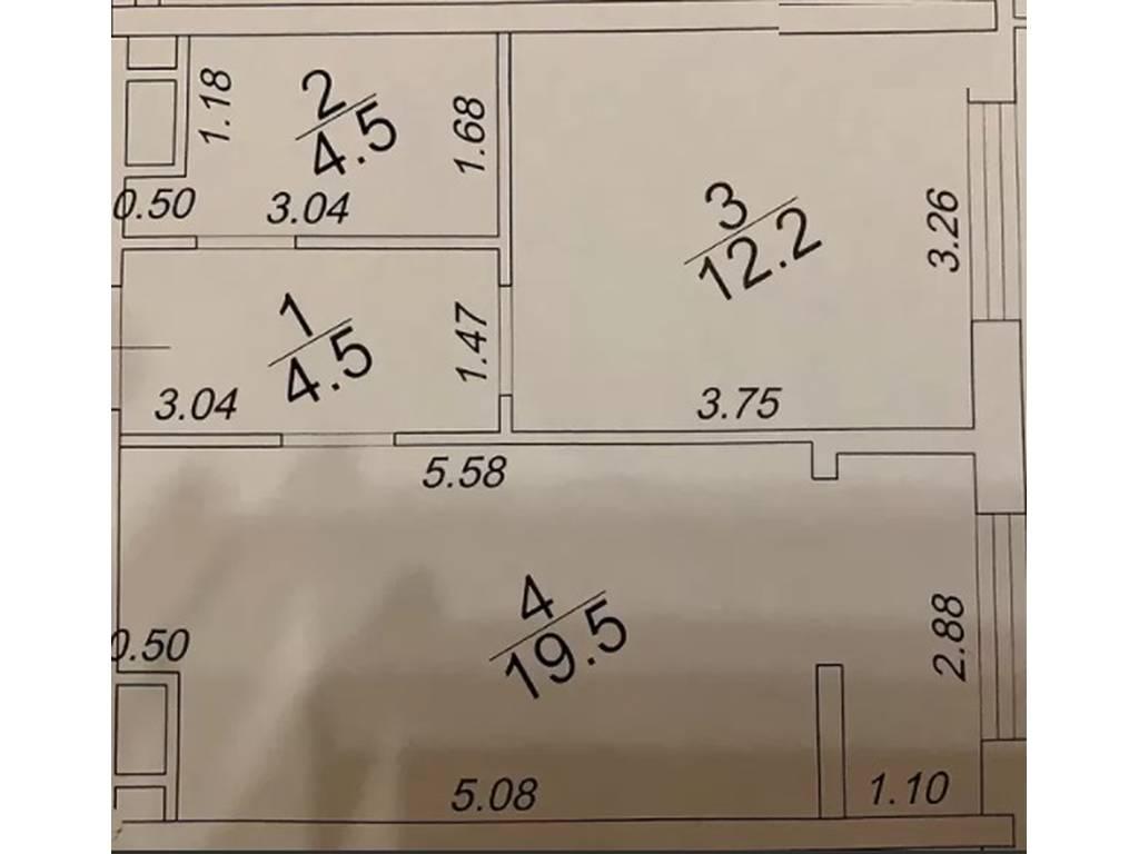 1-комнатная квартира, 41.00 м2, 44500 у.е.