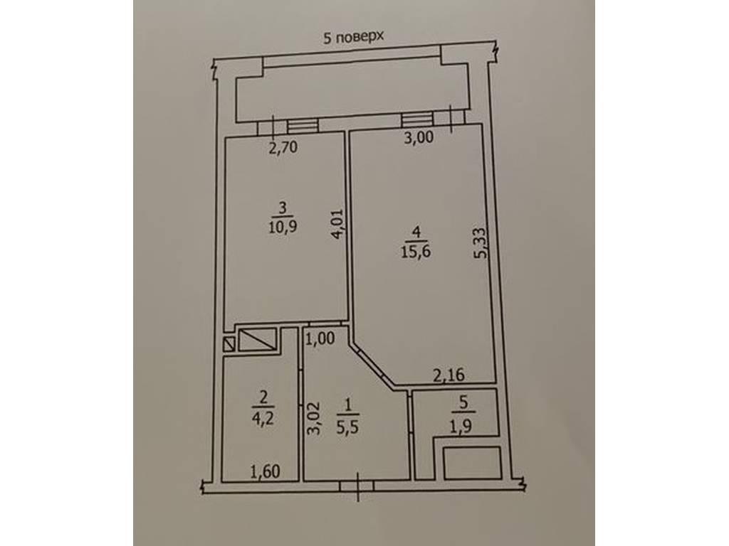 1-комнатная квартира, 50.00 м2, 53000 у.е.