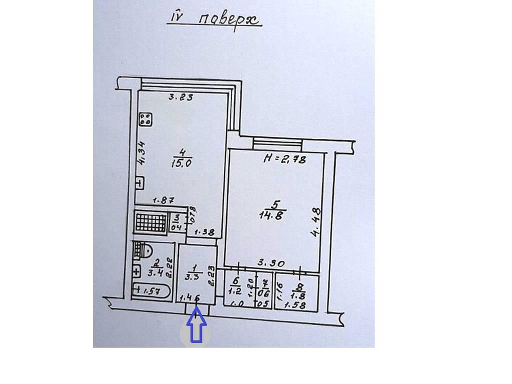 1-комнатная квартира, 41.30 м2, 68000 у.е.