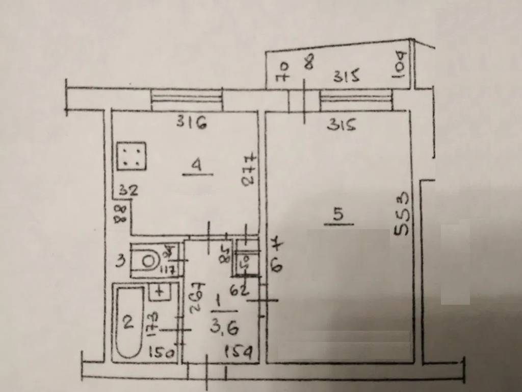 1-комнатная квартира, 35.00 м2, 37000 у.е.