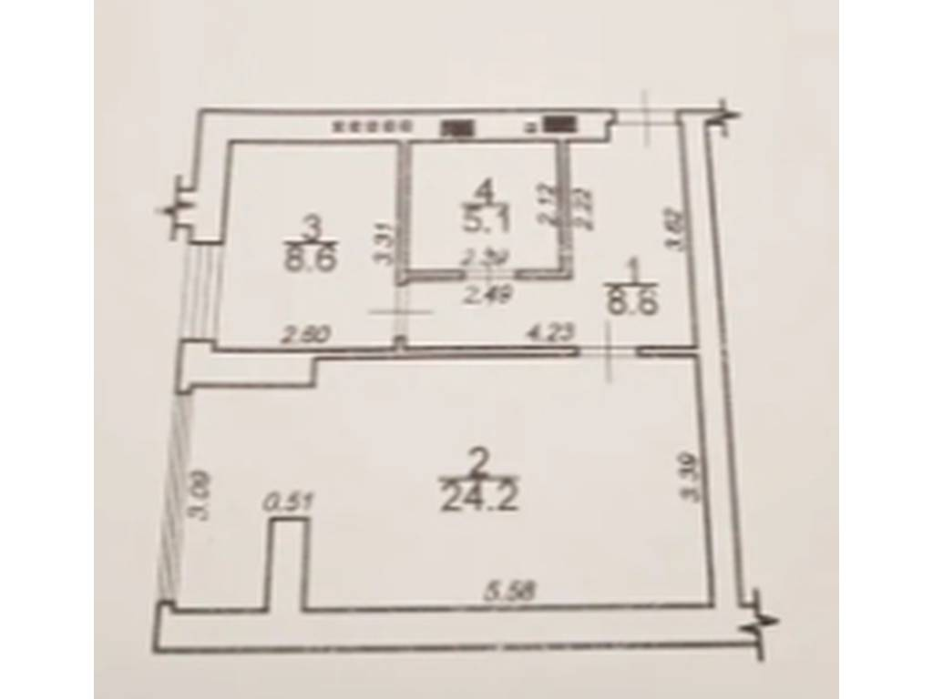 1-комнатная квартира, 46.70 м2, 33000 у.е.