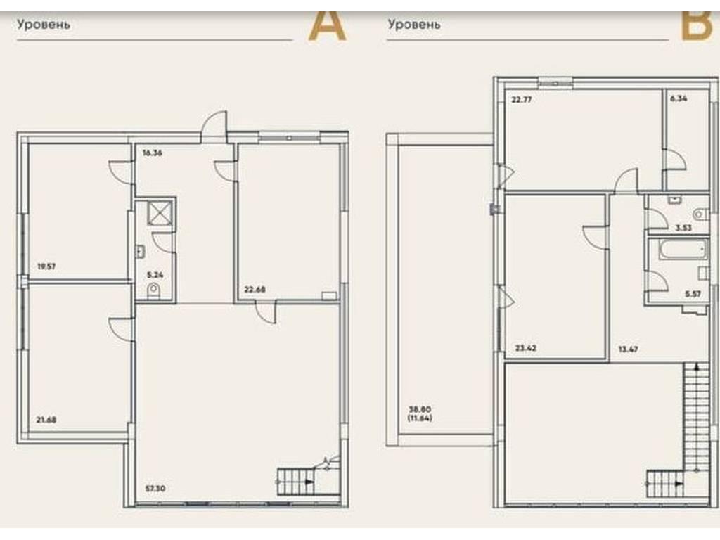 5-комнатная квартира, 229.56 м2, 298428 у.е.