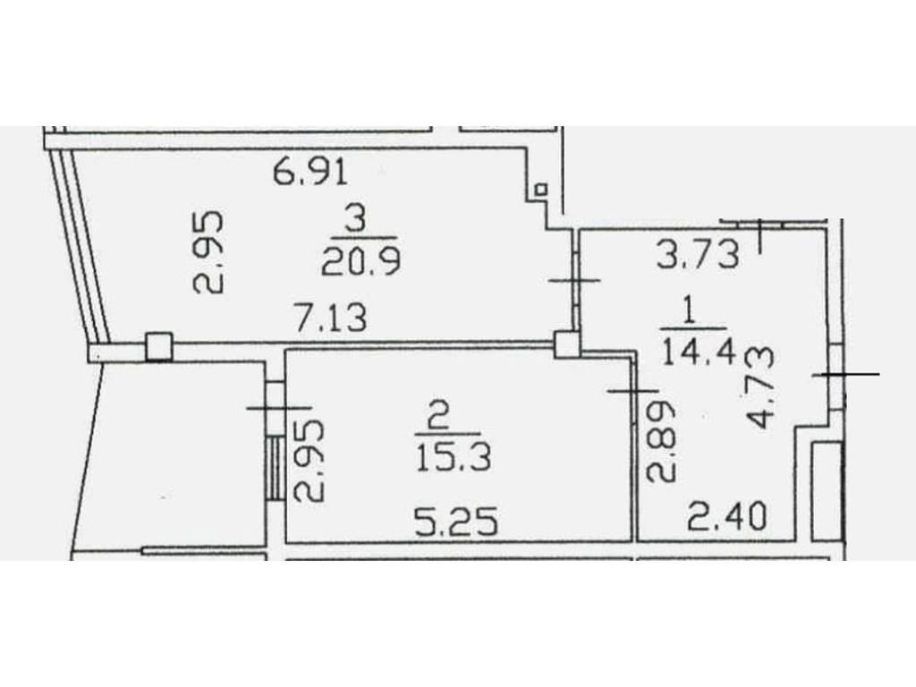 1-комнатная квартира, 57.50 м2, 149000 у.е.
