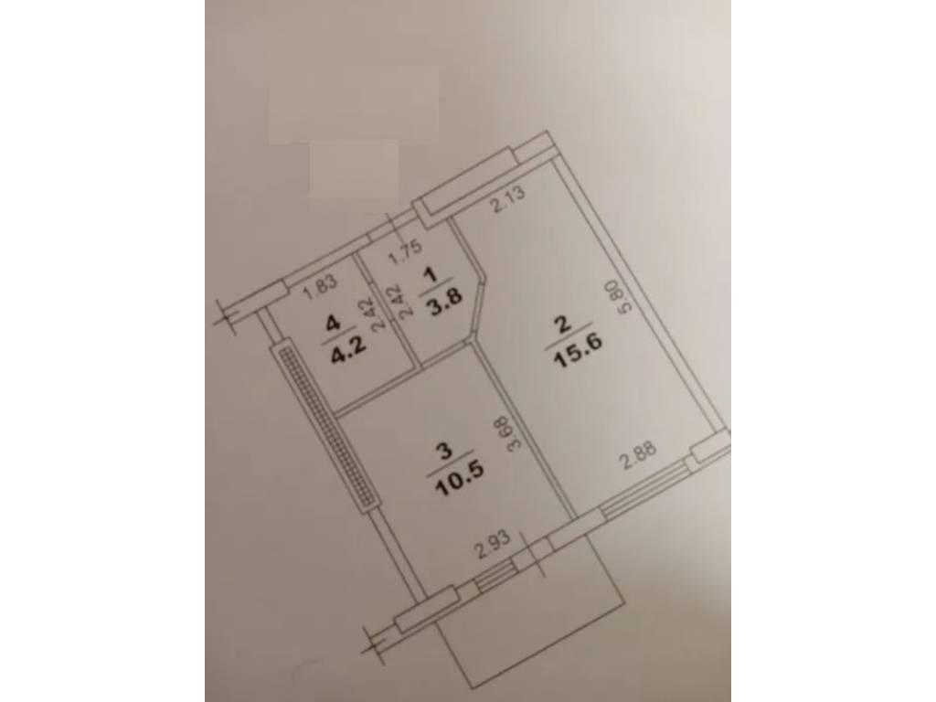 1-комнатная квартира, 35.20 м2, 32500 у.е.
