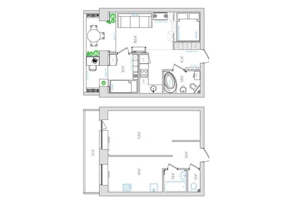1-комнатная квартира, 37.00 м2, 34000 у.е.