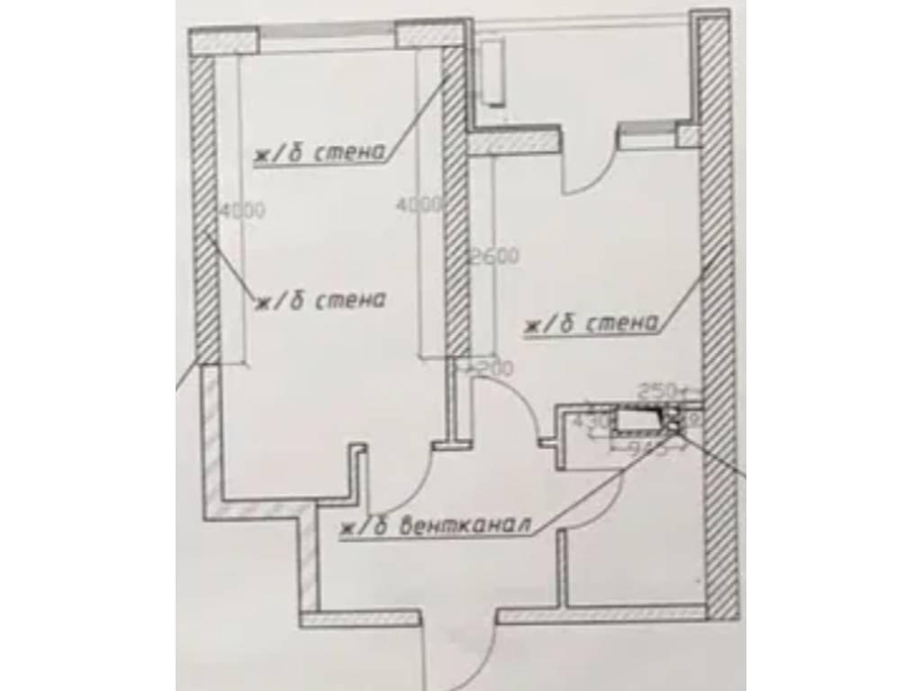 1-комнатная квартира, 39.15 м2, 56100 у.е.