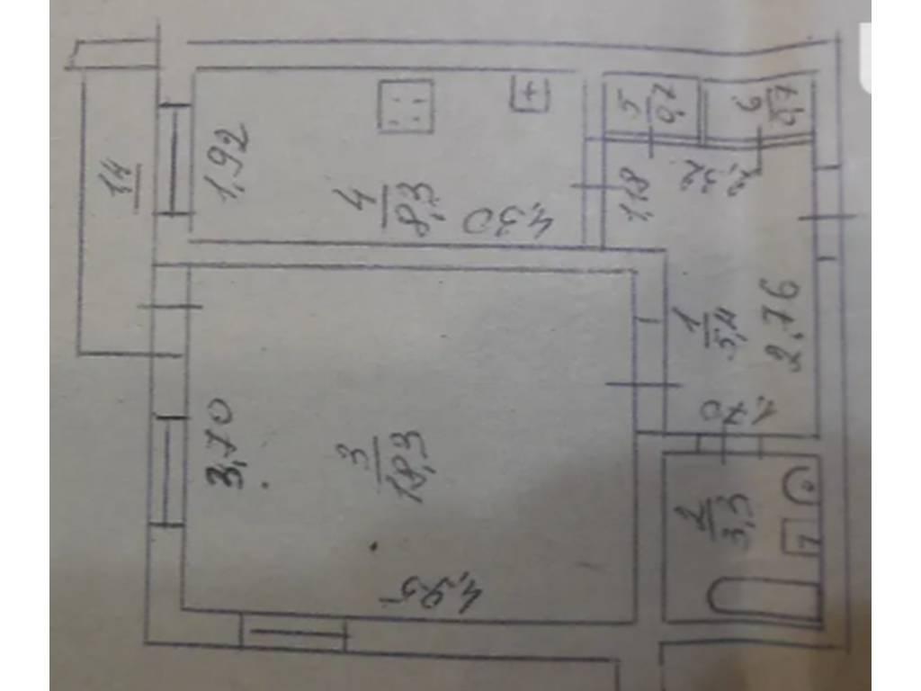 1-комнатная квартира, 38.00 м2, 24500 у.е.