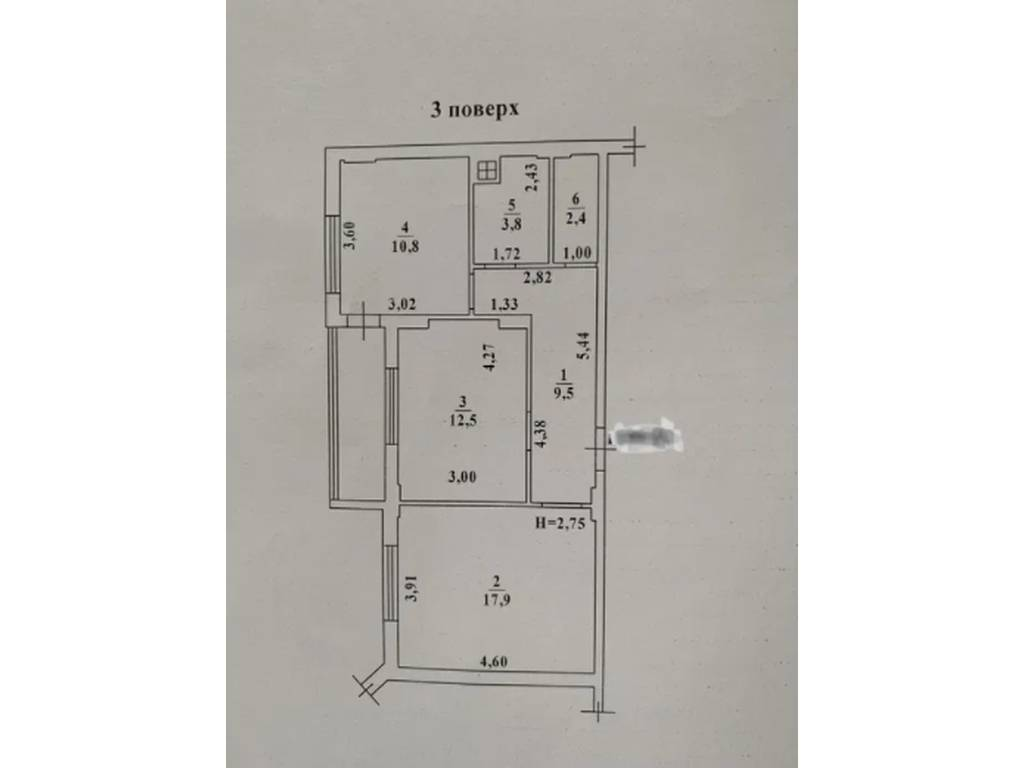 2-комнатная квартира, 61.00 м2, 55000 у.е.