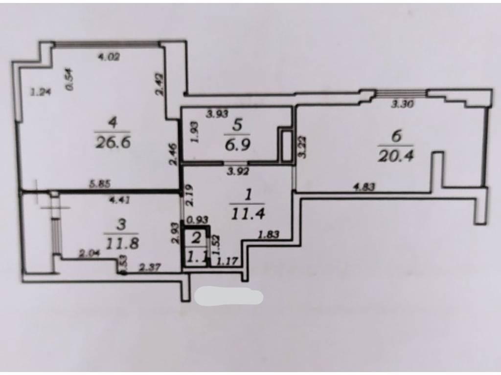 2-комнатная квартира, 81.00 м2, 90000 у.е.