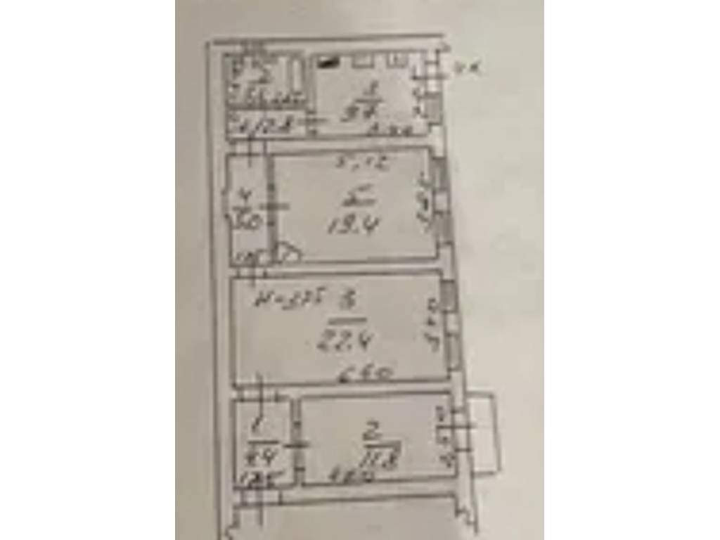 3-комнатная квартира, 81.60 м2, 81500 у.е.
