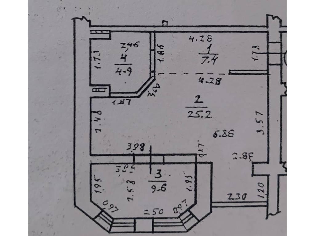 2-комнатная квартира, 50.00 м2, 45000 у.е.
