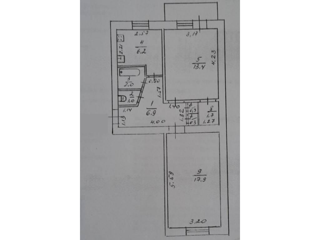 2-комнатная квартира, 50.00 м2, 34000 у.е.