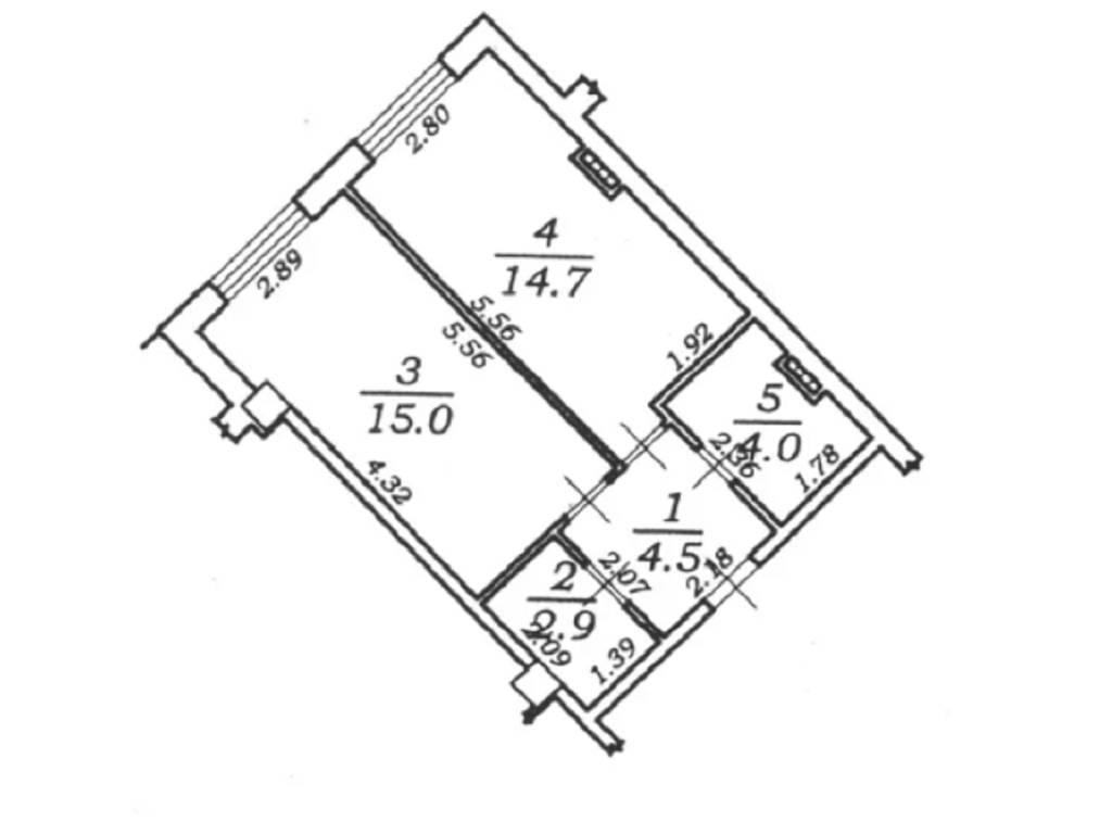 1-комнатная квартира, 41.10 м2, 64900 у.е.