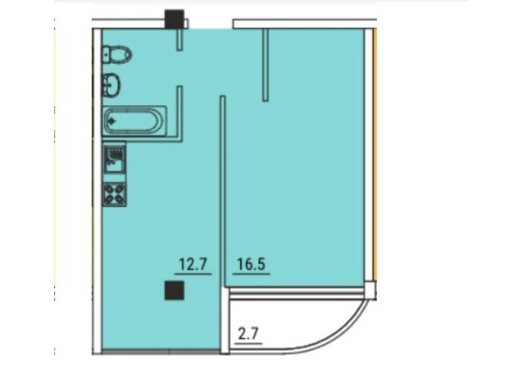 1-комнатная квартира, 37.00 м2, 37000 у.е.