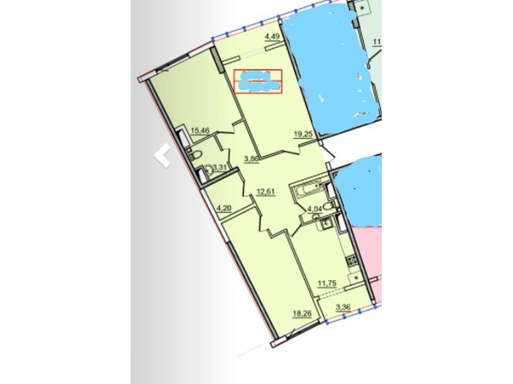 3-комнатная квартира, 100.00 м2, 157600 у.е.