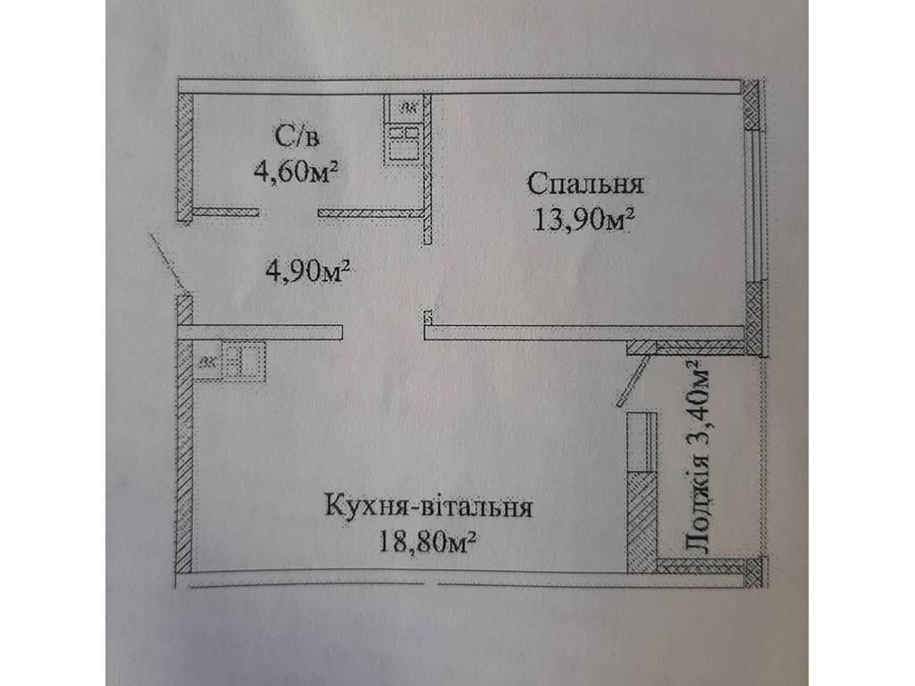 1-комнатная квартира, 45.00 м2, 35000 у.е.