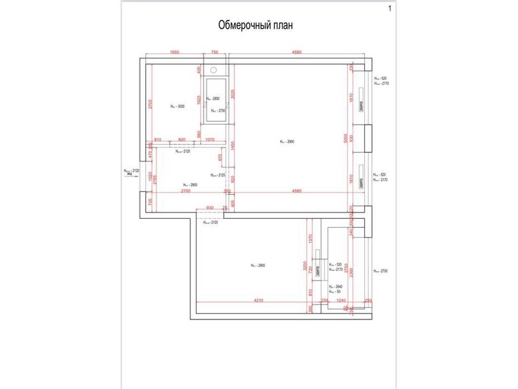 1-комнатная квартира, 53.60 м2, 49000 у.е.