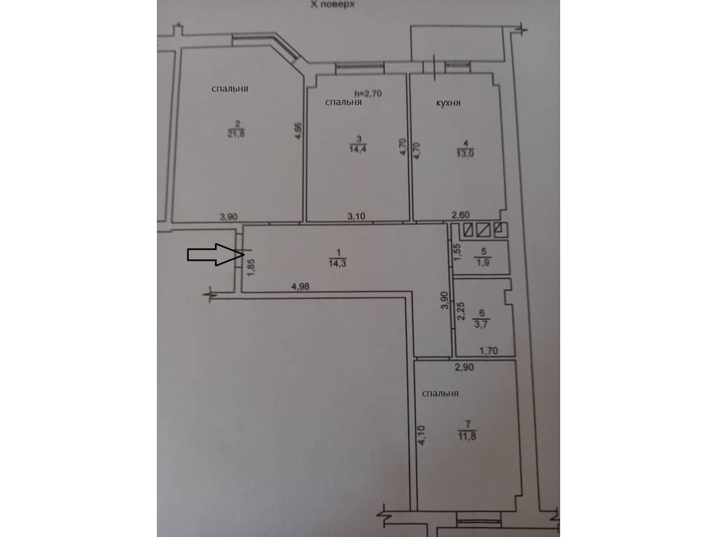 3-комнатная квартира, 82.00 м2, 75000 у.е.