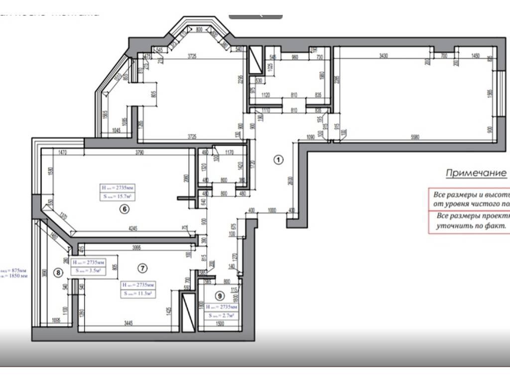 3-комнатная квартира, 87.00 м2, 87000 у.е.