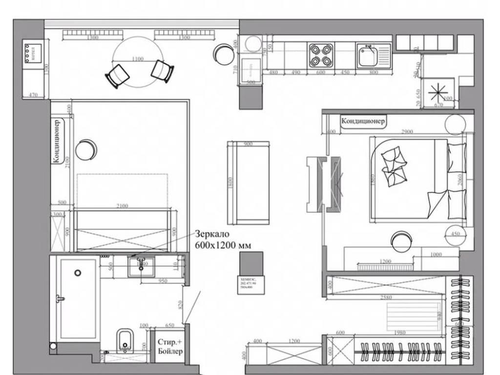 1-комнатная квартира, 64.00 м2, 50000 у.е.