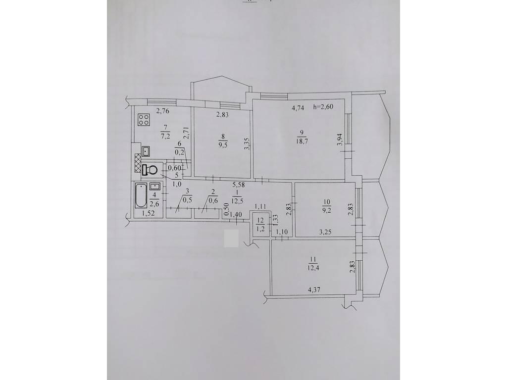 4-комнатная квартира, 84.20 м2, 75000 у.е.