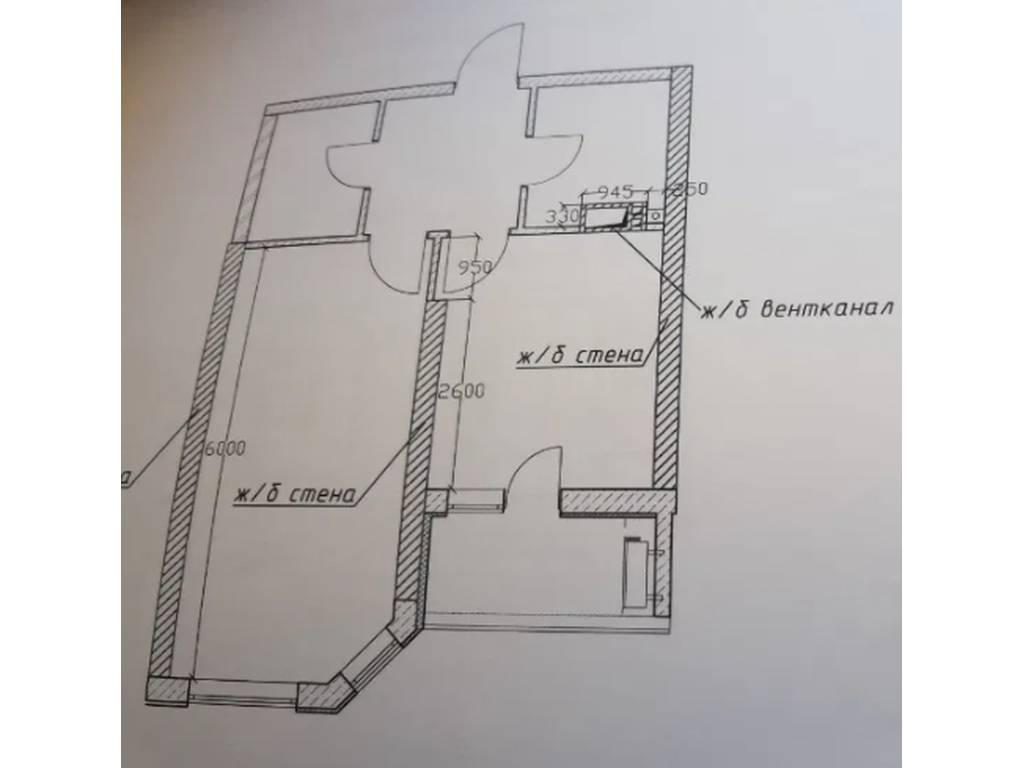1-комнатная квартира, 43.00 м2, 45500 у.е.