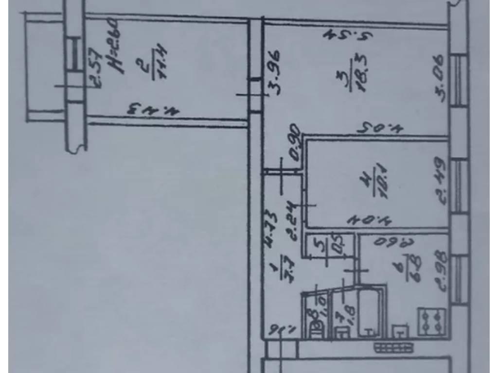 3-комнатная квартира, 59.00 м2, 49999 у.е.