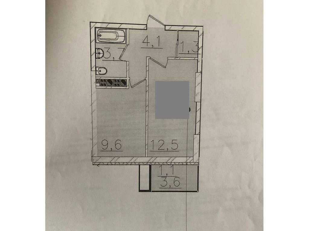 1-комнатная квартира, 32.30 м2, 32500 у.е.