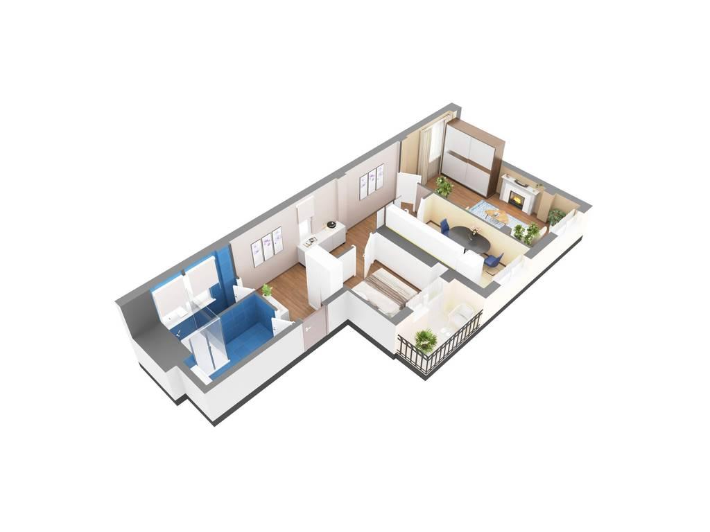 2-комнатная квартира, 69.70 м2, 72836 у.е.