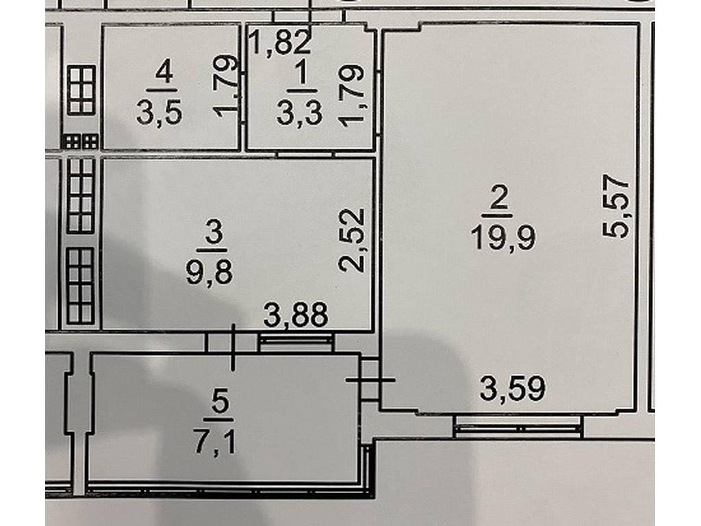 1-комнатная квартира, 43.60 м2, 23500 у.е.