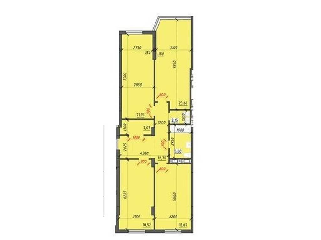 3-комнатная квартира, 108.30 м2, 71478 у.е.