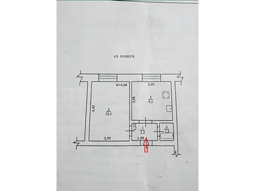 1-комнатная квартира, 27.00 м2, 20000 у.е.