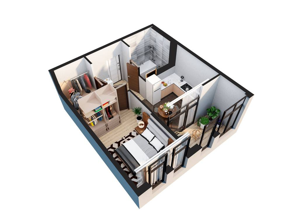 1-комнатная квартира, 40.70 м2, 27000 у.е.