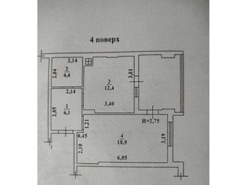 2-комнатная квартира, 48.00 м2, 31000 у.е.