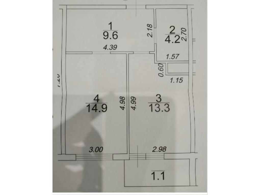 1-комнатная квартира, 43.10 м2, 44500 у.е.