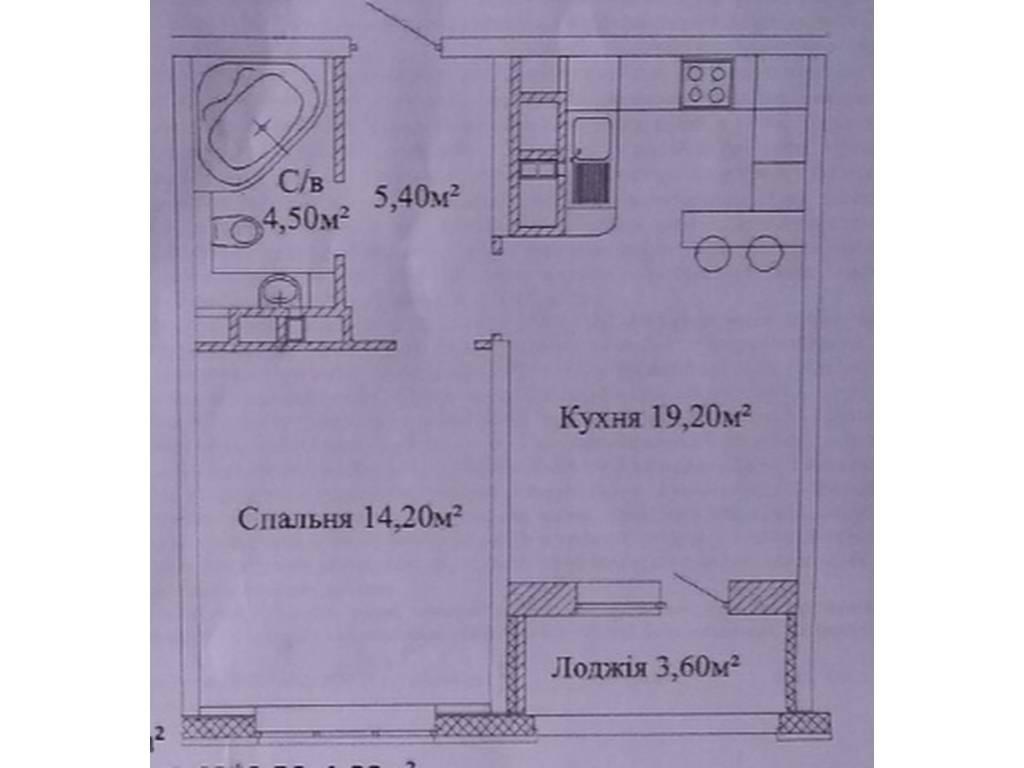 1-комнатная квартира, 45.00 м2, 38335 у.е.